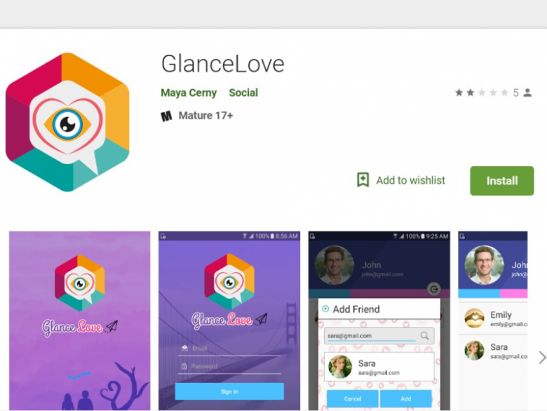 Glance dating app