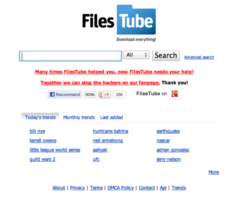 FilesTube's Facebook Page Hijacked | HITBSecNews
