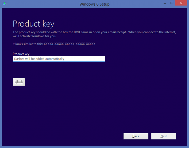 how to skip product key in windows 8 installation