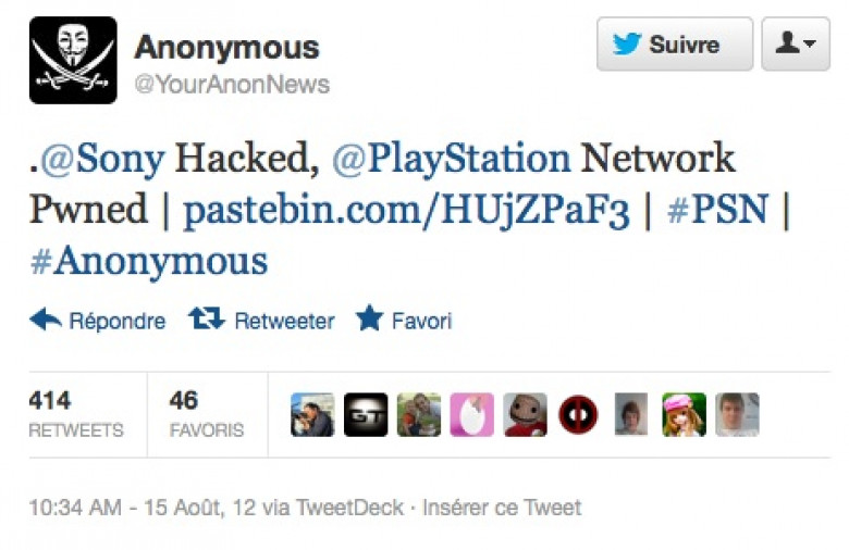 Anonymous says it hacked 10M PSN accounts