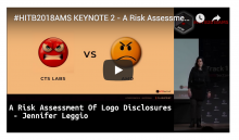 https://conference.hitb.org/hitbsecconf2018ams/sessions/keynote-2-a-risk-assessment-of-logo-disclosures/